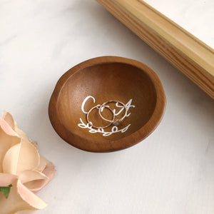 Custom Wooden Ring Dish - Made to Order