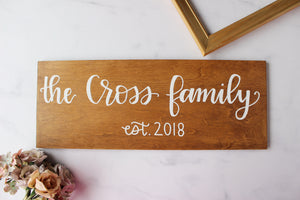 Custom The Last Name Family - Made to Order