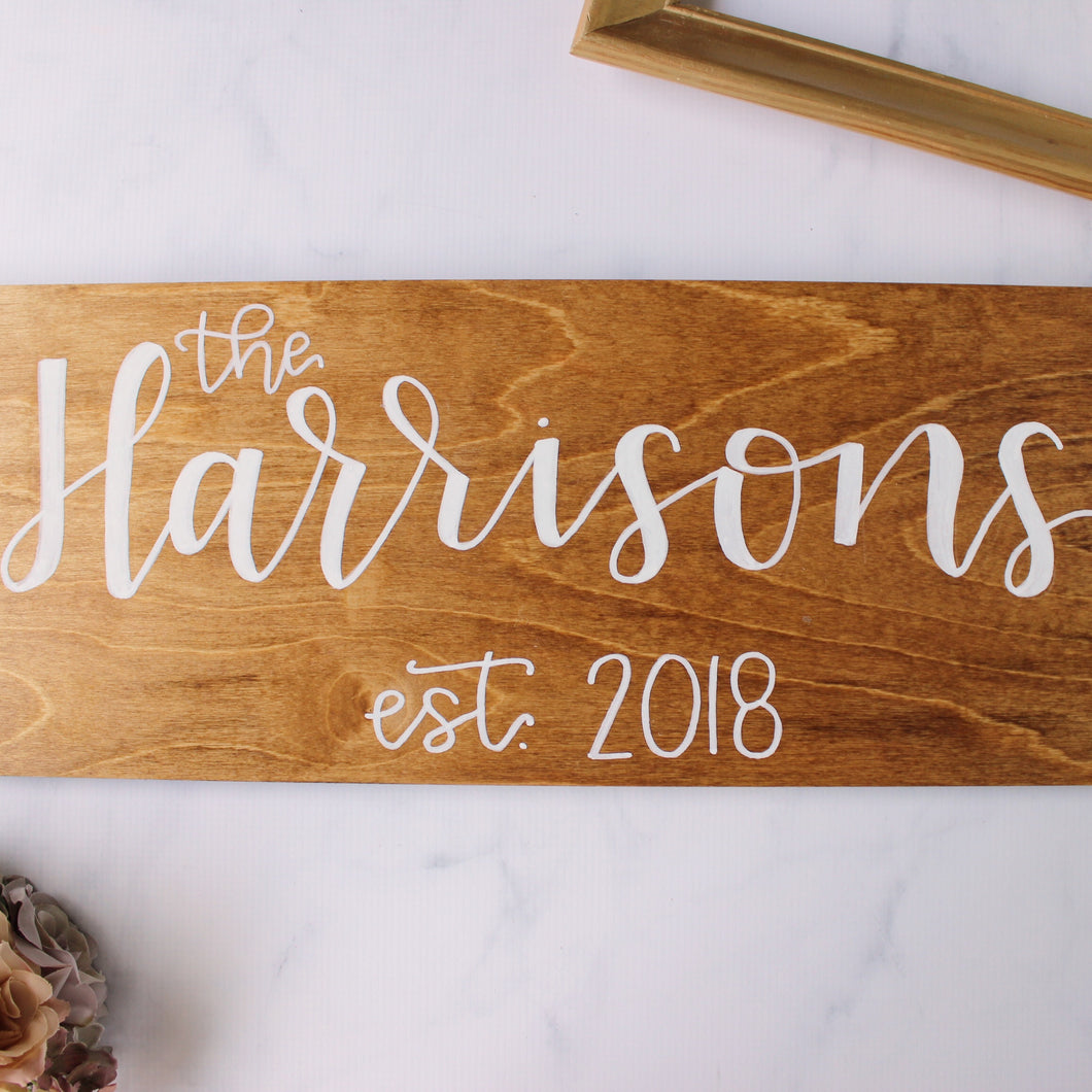 Custom The Last Name Sign - Made to Order