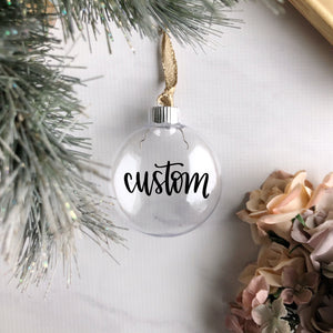 "3.5"" Plastic Clear Christmas Disc Ornament"