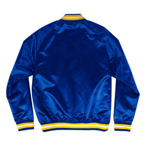 Mitchell and Ness Lightweight Satin Jacket Golden State Warriors