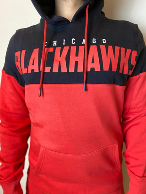 Fanatics Chicago Blackhawks Cut and Sew OTH panelled Hoodie - Ameri-Camden