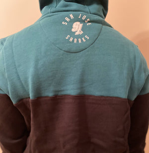 Fanatics San Jose Sharks Cut and Sew OTH panelled Hoodie - Ameri-Camden