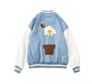 Ameri-Camden 'Daisy' Light Blue Varsity Jacket