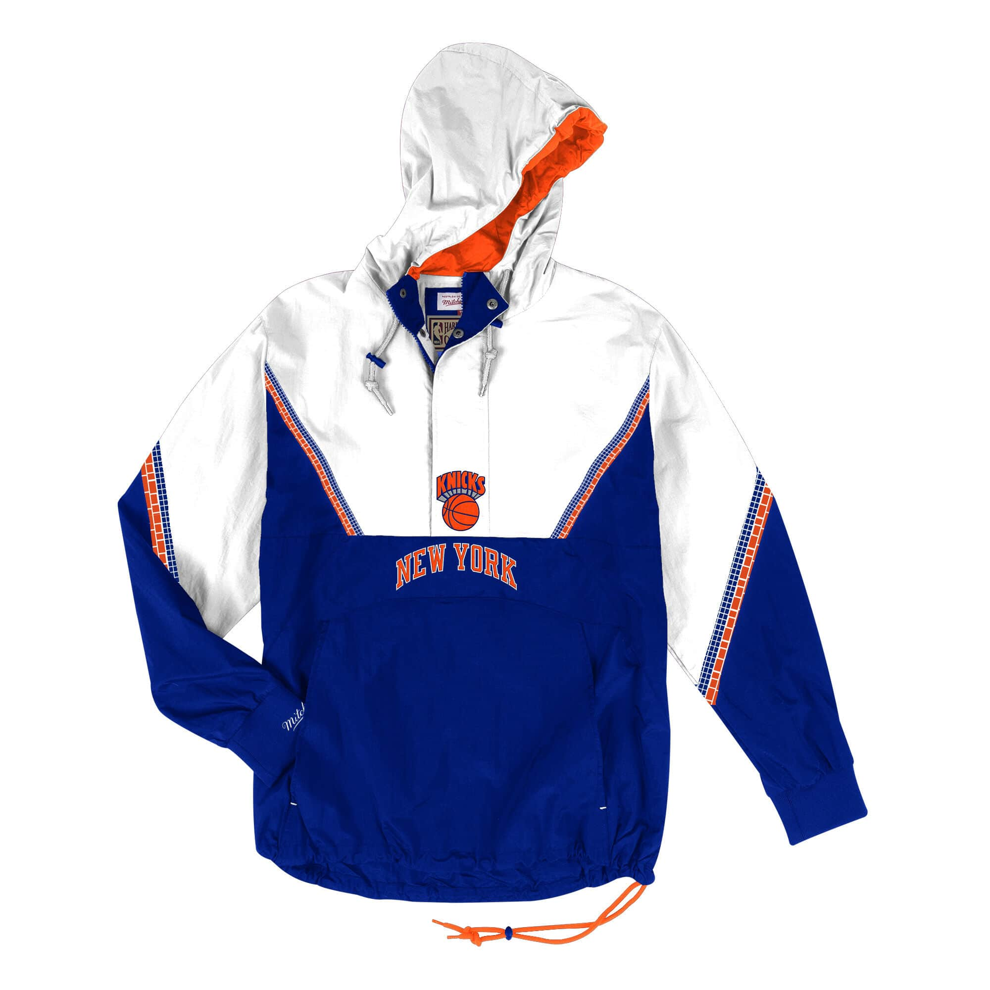 Mitchell and Ness Half Zip Anorak New York Knicks Jacket - Ameri-Camden