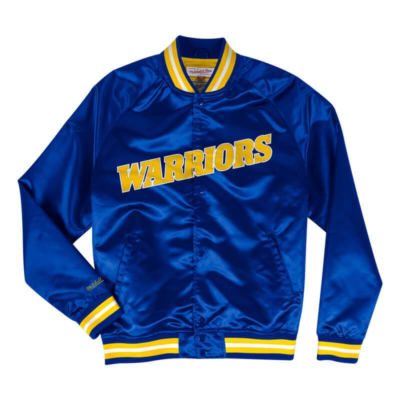 Mitchell and Ness Lightweight Satin Jacket Golden State Warriors - Ameri-Camden