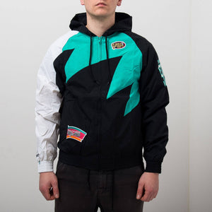 Mitchell and Ness San Antonio Spurs Shark Tooth Jacket - Ameri-Camden