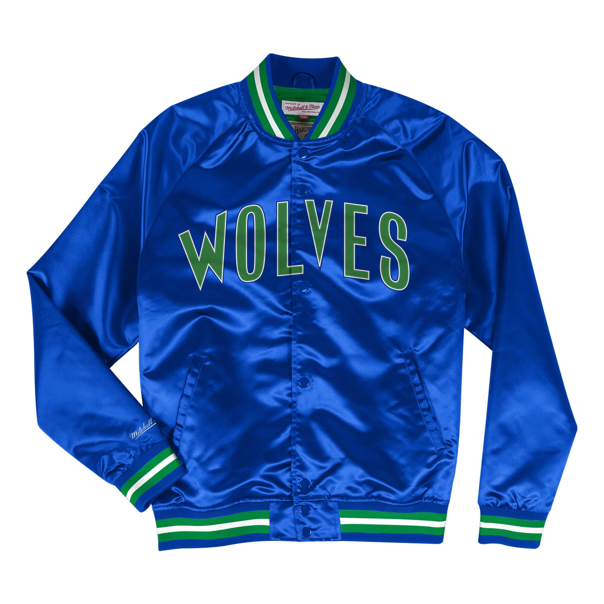 Mitchell & Ness Lightweight Satin Jacket Minnesota Timberwolves - Ameri-Camden