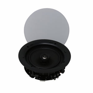 "TIC MC7V26 - Outdoor Ceiling Speakers Magnetic Grill 70v 8Ω 6.5"" (pair)"