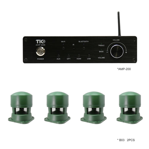 TIC B03-AMP200 bundle - 4xB03 (2 pairs) + AMP200 Amplifier