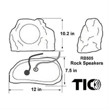"Load image into Gallery viewer, TIC RB505 - Bluetooth5 Surface-mount Rock speaker 6.5"" 2x50W (Pair)"