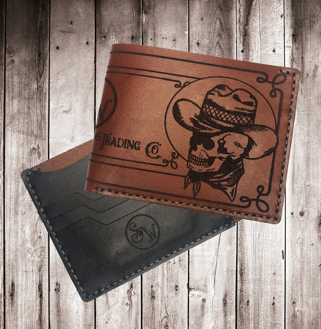 Sacred West Custom Leather Billfold Wallet