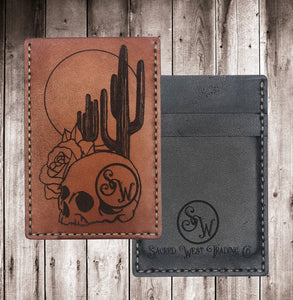 Sacred West Card Holder Custom Leather Wallet
