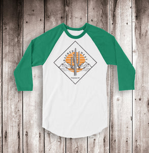 Desert Diamond 3/4 Sleeve Raglan Shirt Unisex