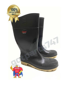 Plain Toe Rubber Boots