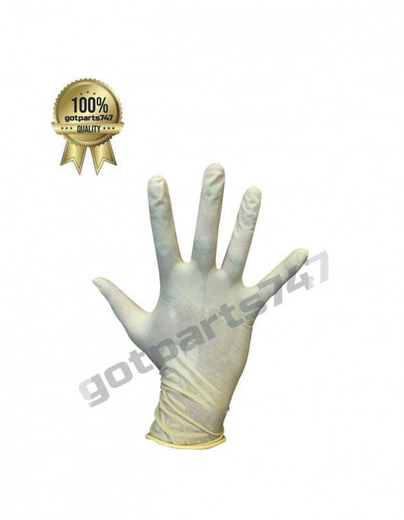 White Latex Gloves image 5