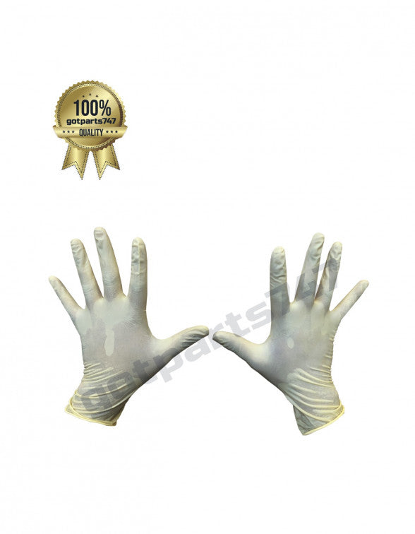 White Latex Gloves image 4