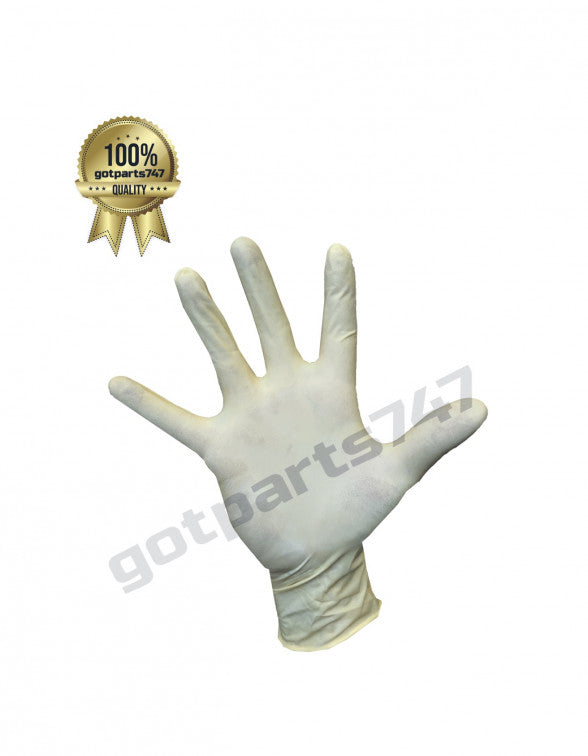 White Latex Gloves image 3