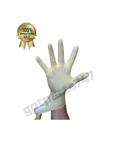 White Latex Gloves image 2