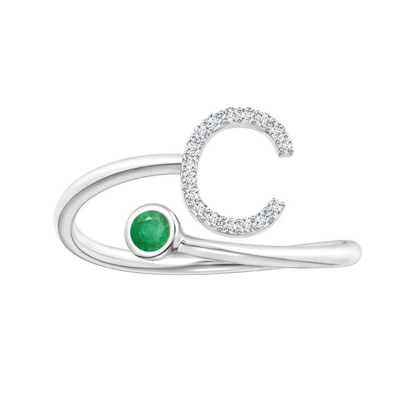 Initials Ring- Alphabet C