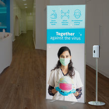 Load image into Gallery viewer, Disinfection Dispenser With Sensor, Stand and INFO LIGHTBOX