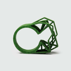 A big statement ring in green.
