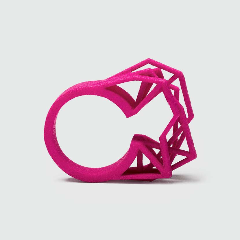 Big statement ring in pink.