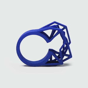 Our big statement ring in royal blue.