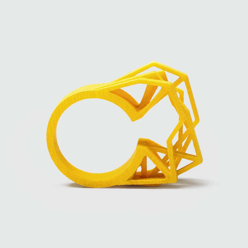 Our big statement ring in yellow.