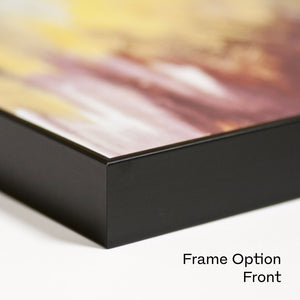 "Dibond art print of ""Abstract Landscape"" detail with black frame."