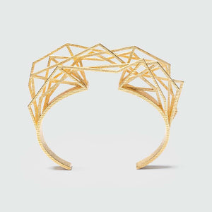 Geometric bracelet with complex structure.