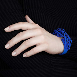 Royal blue large cuff bracelet.