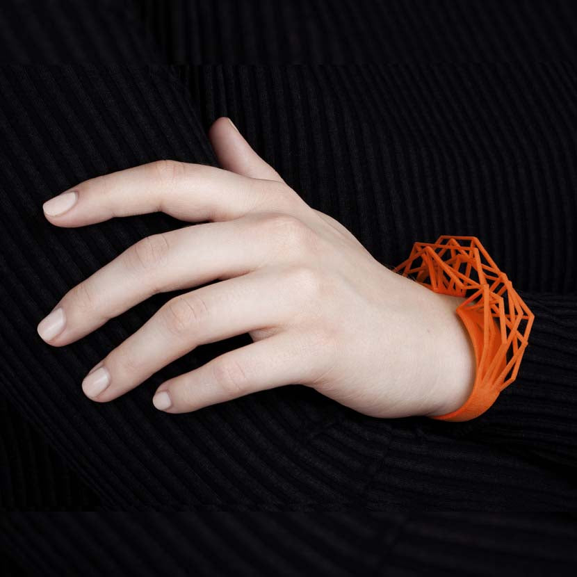 Juicy orange large cuff bracelet.