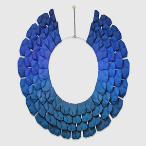 Lynne Maclachlan blue green gradient on Nefertiti necklace.