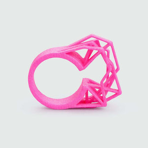 Shocking neon pink ring.