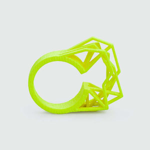 Edgy neon yellow ring.