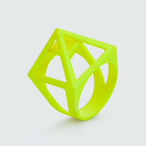 UV jewelry ring in neon yellow.