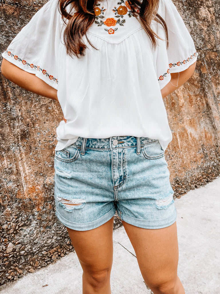 Pippa Denim Shorts - L'Avenue Boutique