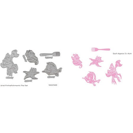 Disney - Cutting Dies - Princesses Ariel Embellishments