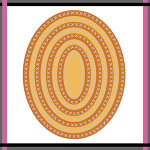 Unbranded Cutting Dies - Cross Stitch Oval Set