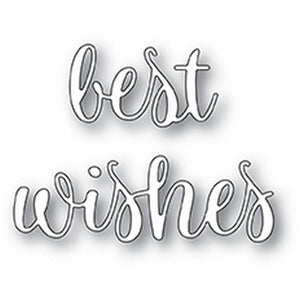 Poppystamps - Best Wishes Folksy Script
