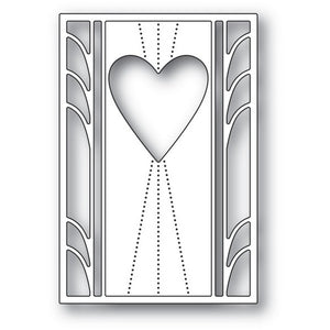 Poppystamps - Deco Marquis Heart