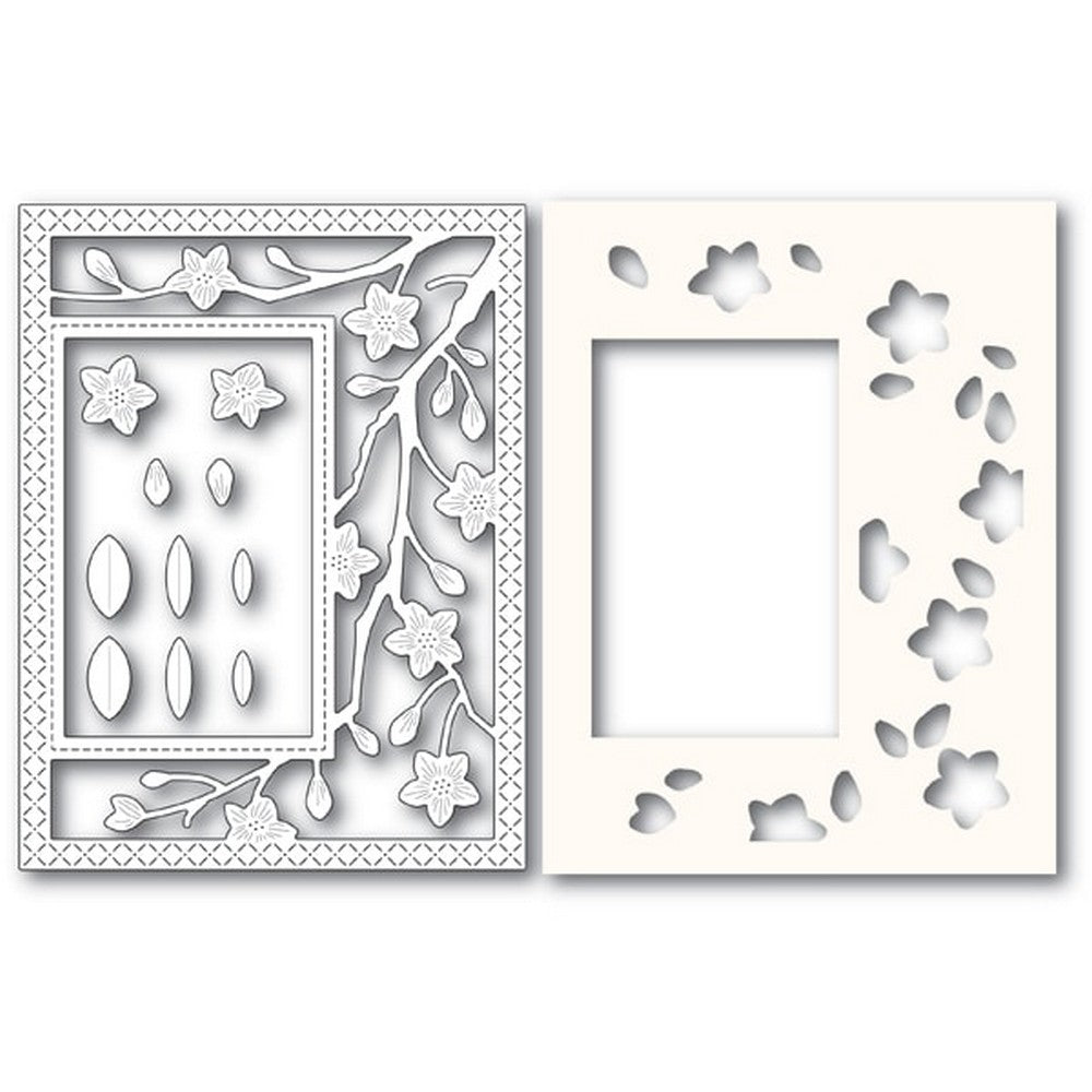 Poppystamps - Dies - Blooming Branches Sidekick Frame and Stencil