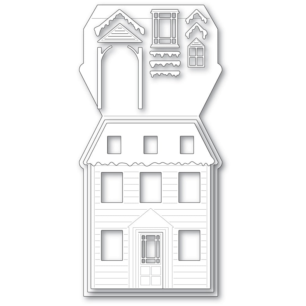 Poppystamps - Dies - Winter House Pop Up Easel Set