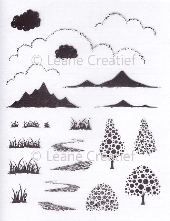 Leane Creatief - Clear Stamps - Landscape