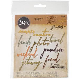 Sizzix - Tim Holtz - Handwritten Vacation