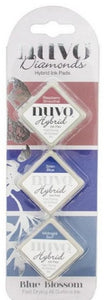 Nuvo Diamond Hybrid Ink Pads - Blue Blossom