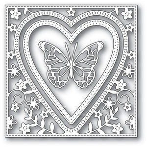 Memory Box - Butterfly Heart Frame