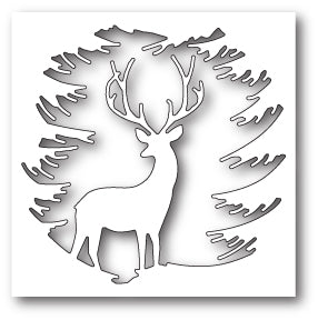 Memory Box - Evergreen Reindeer