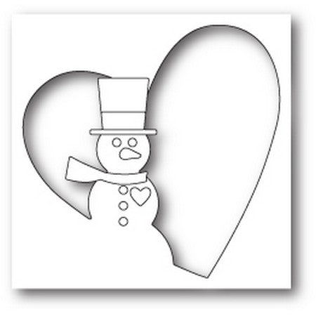 Memory Box - Snowman Heart Collage